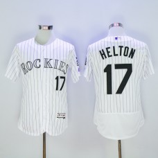 Men Colorado Rockies 17 Helton White MLB Jerseys