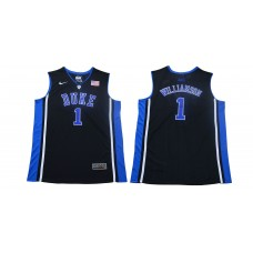 Men Duke Blue Devils 1 Zion Williamson Black Basketball Elite Stitched NCAA Jersey