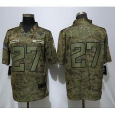 Men Jacksonville Jaguars 27 Fournette Nike Camo Salute to Service Limited NFL Jerseys
