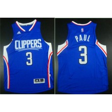 Men Los Angeles Clippers 3 Paul Blue Adidas NBA Jerseys