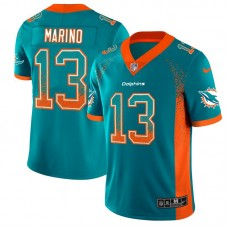 Men Miami Dolphins 13 Marino Green Nike Drift Fashion Color Rush Limited NFL Jersey