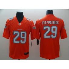 Men Miami Dolphins 29 Fitzpatrick Orange Nike Vapor Untouchable Limited Playe NFL Jerseys