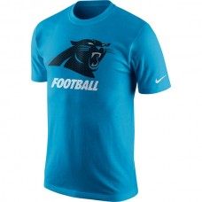 Men NFL Carolina Panthers Nike Facility TShirt  Panther Blue