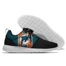 Men NFL Miami Dolphins Roshe style Lightweight Running shoes  4