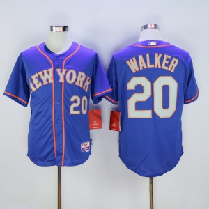 Men New York Mets 20 Walker Blue MLB Jerseys