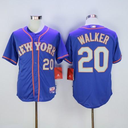 Men New York Mets 20 Walker Blue MLB Jerseys