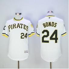 Men Pittsburgh Pirates 24 Bonds White Elite MLB Jerseys