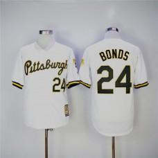 Men Pittsburgh Pirates 24 Bonds White Throwback Game MLB Jerseys