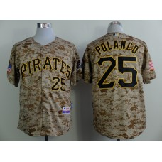 Men Pittsburgh Pirates 25 Polanco Camo MLB Jerseys