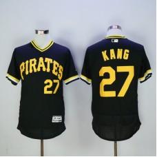 Men Pittsburgh Pirates 27 Kang Black Elite MLB Jerseys