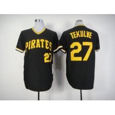 Men Pittsburgh Pirates 27 Kang Black Throwback MLB Jerseys