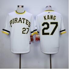 Men Pittsburgh Pirates 27 Kang White MLB Jerseys