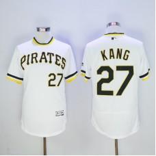 Men Pittsburgh Pirates 27 Kang White Throwback Elite MLB Jerseys