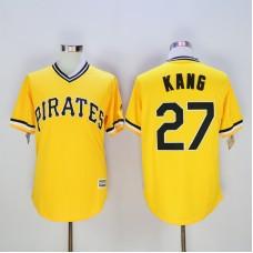 Men Pittsburgh Pirates 27 Kang Yellow Game MLB Jerseys
