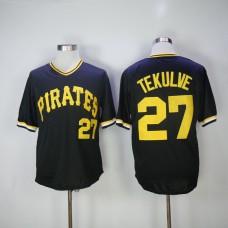 Men Pittsburgh Pirates 27 Tekulve Black Throwback MLB Jerseys