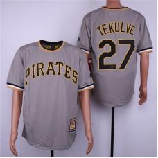 Men Pittsburgh Pirates 27 Tekulve Grey MLB Jerseys