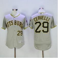 Men Pittsburgh Pirates 29 Cervelli Grey Elite MLB Jerseys