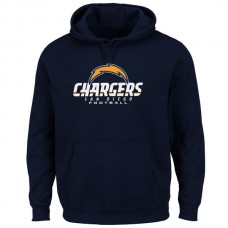 Men San Diego Chargers Critical Victory Pullover Hoodie Navy Blue