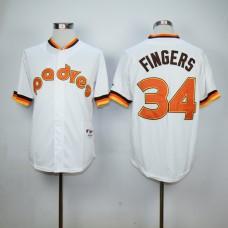 Men San Diego Padres 34 Cashner White Throwback 1984 MLB Jerseys