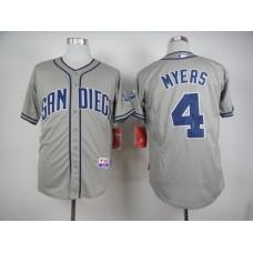 Men San Diego Padres 4 Myers Grey MLB Jerseys