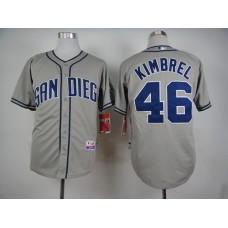 Men San Diego Padres 46 Kimbrel Grey MLB Jerseys