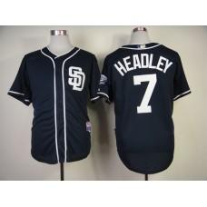 Men San Diego Padres 7 Headley Blue MLB Jerseys