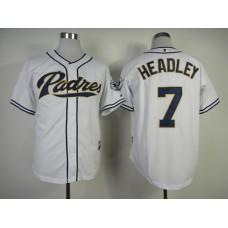 Men San Diego Padres 7 Headley White MLB Jerseys
