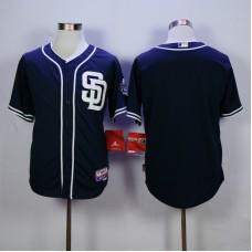 Men San Diego Padres Blank Blue MLB Jerseys