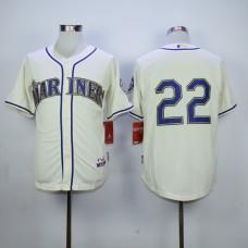 Men Seattle Mariners 22 Cano Cream MLB Jerseys