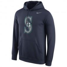 Men Seattle Mariners Nike Logo Performance Pullover Hoodie Navy