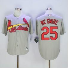 Men St. Louis Cardinals 25 Mc Gwire Grey Throwback MLB Jerseys