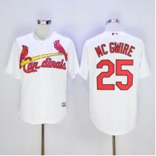 Men St. Louis Cardinals 25 Mc Gwire White Throwback MLB Jerseys
