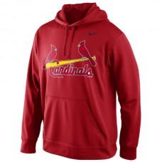 Men St. Louis Cardinals Nike KO Wordmark Perfomance Hoodie Red