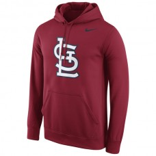 Men St. Louis Cardinals Nike Logo Performance Pullover Hoodie Red