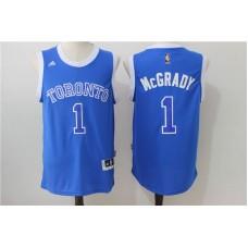 Men Toronto Raptors 1 Mccrady Blue Adidas NBA Jerseys