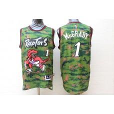 Men Toronto Raptors 1 Mccrady Camo Adidas NBA Jerseys