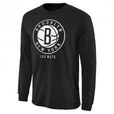 NBA Men Brooklyn Nets Noches Enebea Long Sleeve TShirt Black