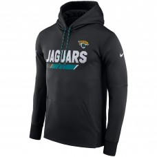 NFL Men Jacksonville Jaguars Nike Black Sideline ThermaFit Performance PO Hoodie