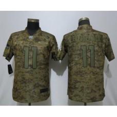 Women Arizona Cardinals 11 Fitzgerald Nike Camo Salute to Service Limited NFL Jersey
