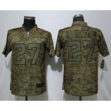 Women Jacksonville Jaguars 27 Fournette Nike Camo Salute to Service Limited NFL Jersey