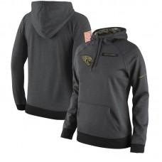 Women NFL Jacksonville Jaguars  Nike Olive Salute To Service Hoodie