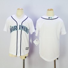 Youth Seattle Mariners Blank White MLB Jerseys