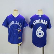 Youth Toronto Blue Jays 6 Stroman Blue MLB Jerseys