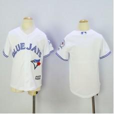 Youth Toronto Blue Jays Blank White MLB Jerseys
