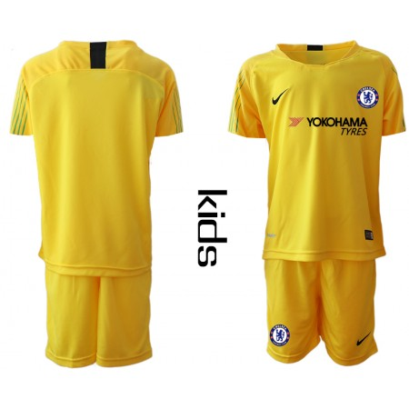 2018_2019 Club Chelsea yellow Youth goalkeeper soccer jerseys