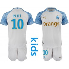 2018_2019 Club Olympique de Marseille home Youth 10 soccer jerseys