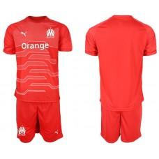 Men 2018-2019 club Olympique de Marseille red goalkeeper Soccer Jerseys