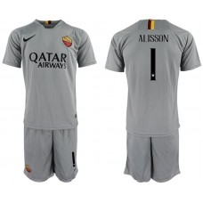 Men 2018-2019 club Rome away 1 grey Soccer Jerseys