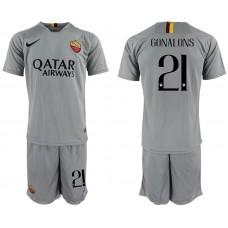 Men 2018-2019 club Rome away 21 grey Soccer Jerseys