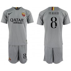 Men 2018-2019 club Rome away 8 grey Soccer Jerseys